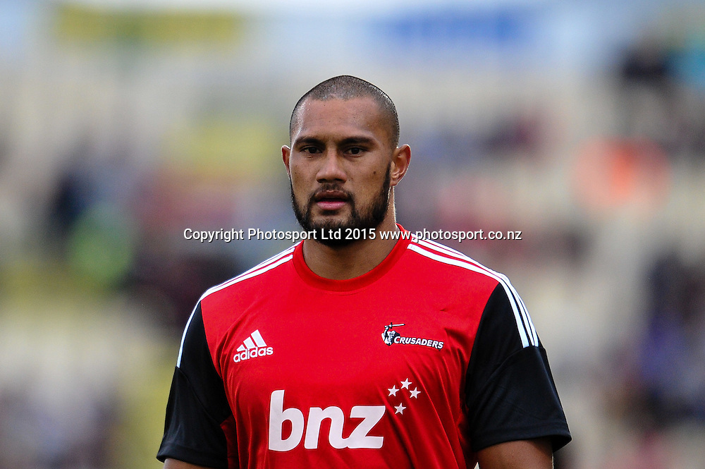 Robbie Fruean of the Crusaders in the Super Rugby match, Crusaders v Rebels at AMI Stadium, Christchurch, New Zealand 13 February 2015. Photo:John Davidson/www.photosport.co.nz