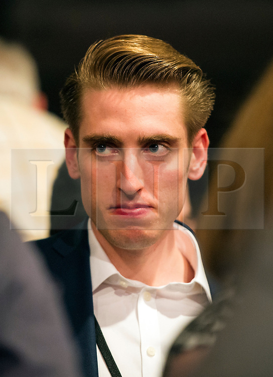 © Licensed to London News Pictures. 12/09/2015. London, UK. BENJAMIN CORBYN, son of Jeremy Corbyn attending The announcement of the new leader of the Labour Party at the QEII centre in Westminster, London on September 12, 2015. Former leader ED Miliband resigned after a heavy defeat at the last election. Photo credit: Ben Cawthra/LNP