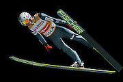 Kamil Stoch of Poland competes during FIS World Cup Ski Jumping competition in Wisla, Poland on January 16, 2014.<br /> <br /> Poland, Wisla, January 16, 2014.<br /> <br /> Picture also available in RAW (NEF) or TIFF format on special request.<br /> <br /> For editorial use only. Any commercial or promotional use requires permission.<br /> <br /> Mandatory credit:<br /> Photo by &copy; Adam Nurkiewicz / Mediasport