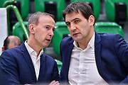 Vincent Collet, Nebojsa Bogavac<br /> Banco di Sardegna Dinamo Sassari - Sig Strasbourg<br /> FIBA Basketball Champions League BCL 2019-2020<br /> Sassari, 13/11/2019<br /> Foto L.Canu / Ciamillo-Castoria