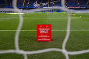 Notices inside Stamford Bridge Stadium prior to the Premier League match between Chelsea and Crystal Palace at Stamford Bridge, London, England on 4 November 2018.