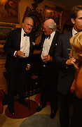 Claus von Bulow and Alastair Horne ( ?) , Party given by Taki and Alexandra Theodorakopoulos. Annabels. London. 26 September 2006. -DO NOT ARCHIVE-© Copyright Photograph by Dafydd Jones 66 Stockwell Park Rd. London SW9 0DA Tel 020 7733 0108 www.dafjones.com