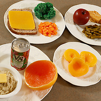 Thomas Wells   BUY AT PHOTOS.DJOURNAL.COM<br /> Oatmeal, vegtable drink and grapefruit<br /> Wheat toast with butter, broccilli, carrotts<br /> Apple, chicken and green beans<br /> peaches for a snack.