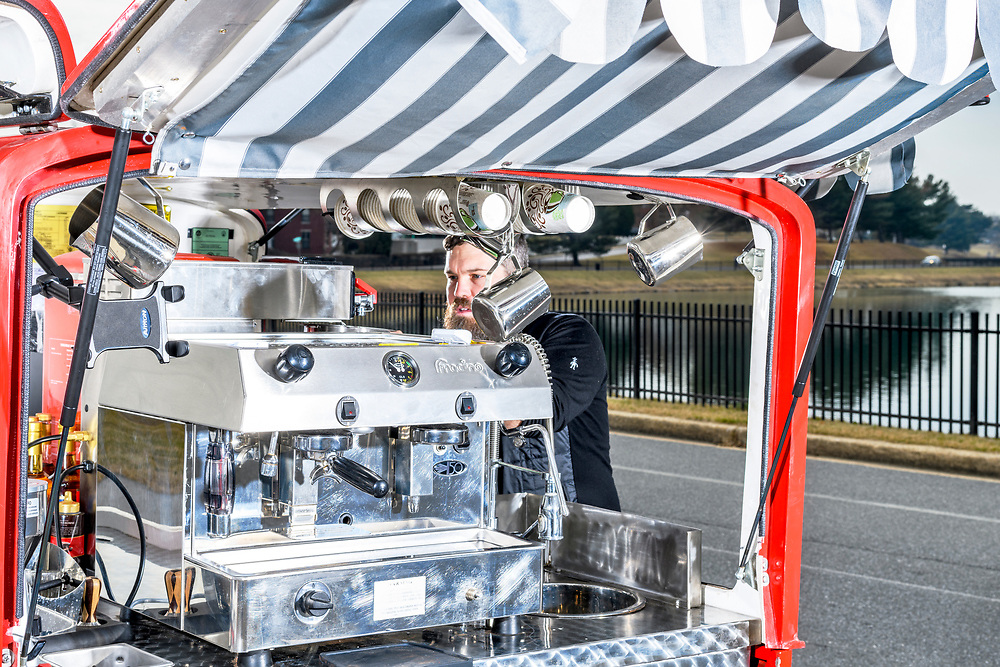 Matt Fouse, Owner of Park and Perk Coffee Truck<br /> <br /> CREDIT: Matt Roth