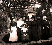 French villagers photographed circa 1912