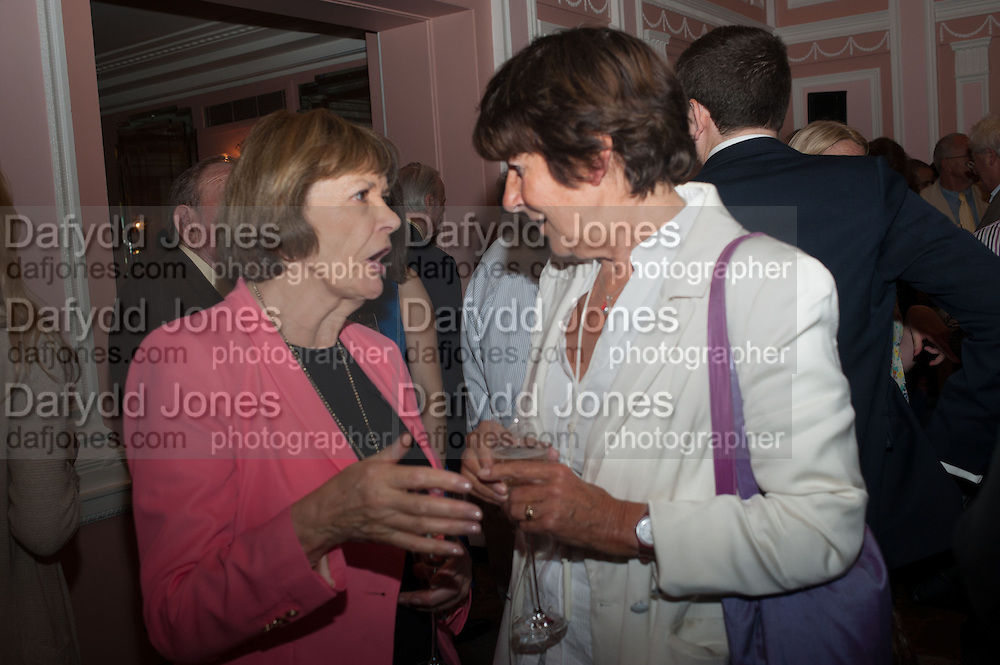 JOAN BAKEWELL; VALERIE GROVE, The Oldie - 20th anniversary party. Simpson's-in-the-Strand, 100 Strand, London, WC2. 19 July 2012