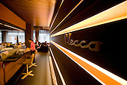 "Trendy lounge restaurant ""Mecca""."