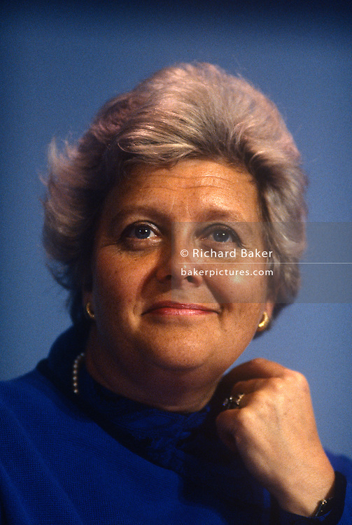 Conservative MP, Lynda Chalker at the Conservative party conference on 11th October 1990 in Blackpool, England.