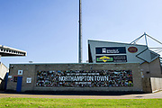 Northampton Town fans mural on the stand wall during the EFL Sky Bet League 1 match between Northampton Town and Oldham Athletic at Sixfields Stadium, Northampton, England on 5 May 2018. Picture by Dennis Goodwin.
