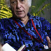 SAMIR AMIN / INTELECTUAL Y ECONOMISTA EGIPCIO<br /> Caracas - Venezuela 2008<br /> (Copyright © Aaron Sosa)<br /> <br /> Samir Amin; Nació en El Cairo; 3 de septiembre de 1931, economista egipcio. Es uno de los pensadores neomarxistas más importantes de su generación. Desarrolló sus estudios sobre política, estadística y economía en París. En la actualidad reside en Dakar (Senegal).