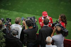 August 24, 2017 - Francorchamps, Belgium - KIMI RAIKKONEN of Finland and Scuderia Ferrari talks to the media during preparations of the 2017 Formula 1 Belgian Grand Prix in Francorchamps, Belgium. (Credit Image: © James Gasperotti via ZUMA Wire)