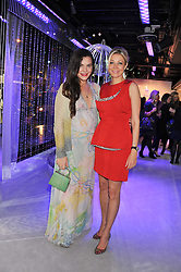 Left to right, THERESA MACCAPANI MISSONI and NADJA SWAROVSKI at a reception to celebrate the launch of 'A Crystal Christmas'  - inspired by Swarovski and held at Harrods, Knightsbridge, London on 8th November 2011.  Following the reception a private dinner was held at One Hyde Park, Knightsbridge.
