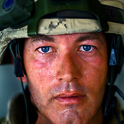 Aug 13, 2009 - Kandahar Province, Afghanistan - Canadian Soldier Warrant Officer Jean-Francois Bastien age 40, seen after a Patrol in extreme heat in the volatile Panjway District located west of Kandahar City, Afghanistan. This is Canada's first combat deployment since the Korean War. Canada has suffered one of the highest casualty rates of the war in Afghanistan and has announced that it will be pulling out all Canadian combat troops by 2011. <br /> The Canadian Press Images/Louie Palu<br /> CANADIAN SALES AND USE ONLY. NO INTERNATIONAL SALES OR USE.