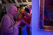 MIN HOGG, Party at the home of Amanda Eliasch in Chelsea after the opening of As I Like it. A memory by Amanda Eliasch and Lyall Watson. Chelsea Theatre. Worl's End. London. 4 July 2010<br /> <br />  , -DO NOT ARCHIVE-© Copyright Photograph by Dafydd Jones. 248 Clapham Rd. London SW9 0PZ. Tel 0207 820 0771. www.dafjones.com.
