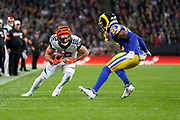 LA Rams Defensive back Troy Hill (22) tackles Cincinnati Bengals Wide receiver Alex Erickson (12) during the International Series match between Los Angeles Rams and Cincinnati Bengals at Wembley Stadium, London, England on 27 October 2019.