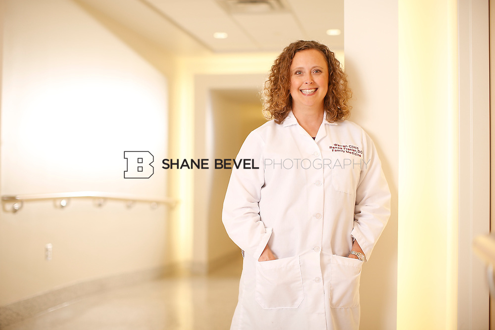 5/28/15 4:18:56 PM -- Dr. Renee Frenier of Saint Francis Health System poses for a portrait for the 2015 Advertising Campaign. <br /> <br /> Photo by Shane Bevel