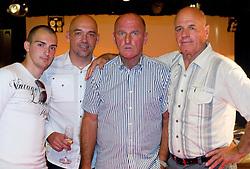 Grandson Nik Oblak, son Robert Oblak and brother Andrej Oblak of Branko Oblak (2R)