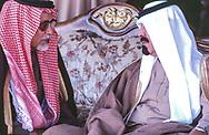 Abdulaziz al-Tuwaijri and Crown Prince Abdullah bin Abdul Aziz