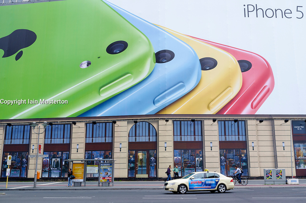 Large billboard advertising iPhone 5C at Potsdamer Platz in Berlin Germany