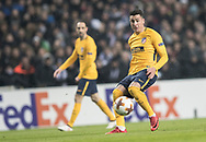 FOOTBALL: José María Giménez (Atlético Madrid) passes the ball during the UEFA Europa League, Round of 32, 1st leg match between FC København and Atlético Madrid at Parken Stadium, Copenhagen, Denmark on February 15, 2018. Photo: Claus Birch.