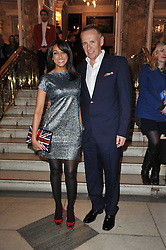 JACKIE ST.CLAIR and CARL MICHAELSON arrive at the press night of the new Andrew Lloyd Webber  musical 'The Wizard of Oz' at The London Palladium, Argylle Street, London on 1st March 2011 followed by an aftershow party at One Marylebone, London NW1