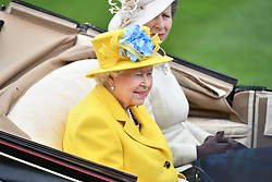 © Licensed to London News Pictures. 19/06/2018. London, UK. Members of the royal family arrive at Day one of Royal Ascot at Ascot racecourse in Berkshire, on June 19, 2018. The 5 day showcase event, which is one of the highlights of the racing calendar, has been held at the famous Berkshire course since 1711 and tradition is a hallmark of the meeting. Top hats and tails remain compulsory in parts of the course. Photo credit: Ben Cawthra/LNP
