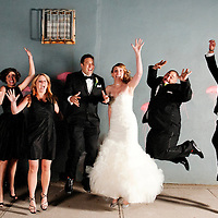 The only somewhat successful but kind of hilarious jumping shot from Erin and Joe's Brooklyn wedding.