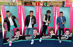 (l-r) Jaymi, Josh, George and JJ.<br /> Boy band Union J launch their life like collectors dolls at the Toy Fair in Kensington Olympia, London, UK.<br />  Tuesday, 21st January 2014. Picture by Ben Stevens / i-Images