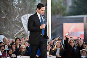 Senator Marco Rubio speaks during a campaign rally on February 26, 2016 in Dallas, Texas.  (Cooper Neill for The New York Times)