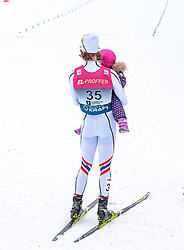 10.03.2018, Holmenkollen, Oslo, NOR, FIS Weltcup Nordische Kombination, Oslo, Langlauf, im Bild Mikko Kokslien (NOR) mit seinem Kind // Mikko Kokslien of Norway with his Child during the Cross Country of the FIS Nordic Combined World Cup at the Holmenkollen in Oslo, Norway on 2018/03/10. EXPA Pictures © 2018, PhotoCredit: EXPA/ JFK
