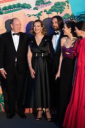 Prince Albert II of Monaco, Carole Bouquet, Dimitri Rassam, Charlotte Casiraghi and Tatiana Casiraghi attend the Rose Ball 2019 at Sporting in Monaco, Monaco on March 30, 2019. Photo by Stephane Cardinale-Pool/ABACAPRESS.COM