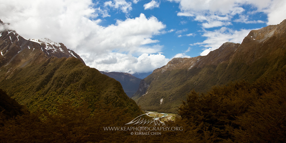 Routeburn Flats Valley, New Zealand