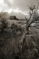 The Moulton Barn, Mormon Row, Grand Teton National Park, Wyoming.