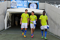 CAPE TOWN, South Africa - Monday 21 January 2013, Grasshopper Club Zurich substitute players exit the tunnel during the soccer/football match Grasshopper Club Zurich (Switzerland) and Jomo Cosmos at the Cape Town stadium..Photo by Roger Sedres/ImageSA