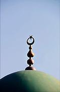 Nederland, Druten, 23-10-2016Koepel met halve maan en ster, symbool van de Islam, van een moskee in dit dorp in Gelderland.Foto: Flip Franssen