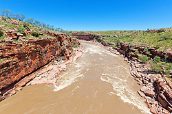 The Fitzroy River passes through Dimond Gorge on Old Mornington Station.