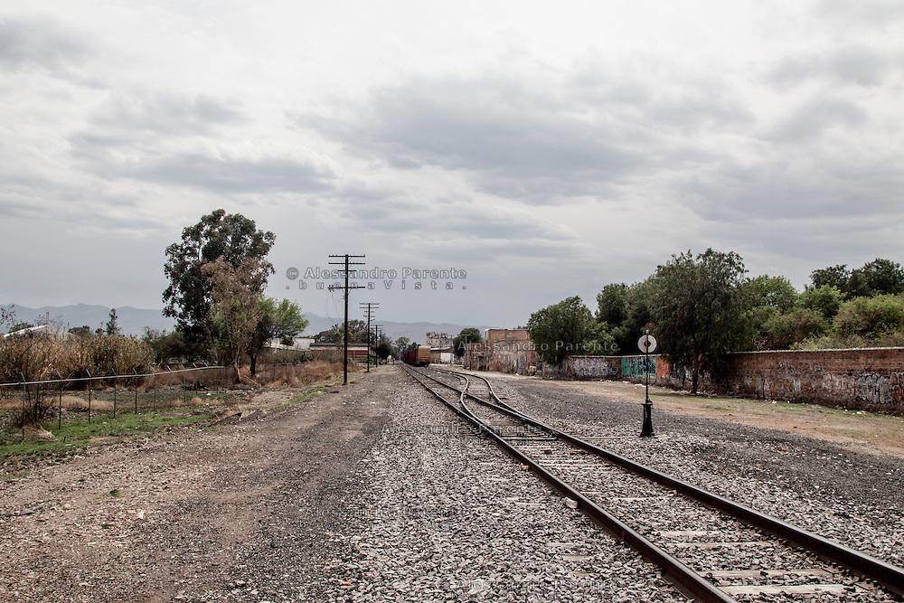Mexico. View of San Luis Potosi railway, here is the place where migrants try to jump on the train.<br /> I binari del treno a San Luis Potosi, Messico. Questo e' uno dei punti da cui i migranti saltano sul treno verso gli Stati Uniti.