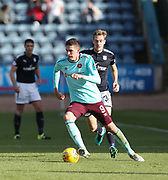 30th September 2017, Dens Park, Dundee, Scotland; Scottish Premier League football, Dundee versus Hearts; Hearts' Kyle Lafferty and Dundee's Kevin Holt
