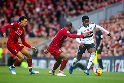 Ryan Sessegnon of Fulham takes on Georginio Wijnaldum of Liverpool - Mandatory by-line: Robbie Stephenson/JMP - 11/11/2018 - FOOTBALL - Anfield - Liverpool, England - Liverpool v Fulham - Premier League