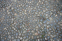 Circle pattern in stone path