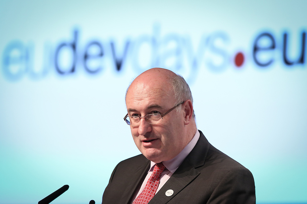 03 June 2015 - Belgium - Brussels - European Development Days - EDD - Food - Feeding the planet together - Phil Hogan<br /> EU Commissioner for Agriculture and Rural Development &copy; European Union