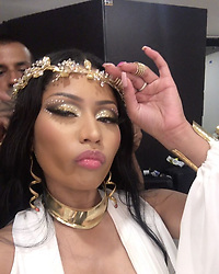 """Nicki Minaj releases a photo on Instagram with the following caption: """"Every girl knows what I'm doing. When u waitin on that eye liner to dry so u gotta keep ya eyes mad low like a crazy person. Cuz if u open them eyes and mess it up, u dead ass b ready to kill somebody \ud83d\ude02 Sheika slayed that makeup or nah? Hey Neal! And my other babies. #ICantEvenLie ft @future \u0026 #Nobody ft @aliciakeys drops @ MIDNIGHT off @djkhaled new album. #NBAAwards JUNE 26th on TNT \ud83d\ude18\ud83d\ude18\ud83d\ude18\ud83d\ude0d\ud83d\ude0d\ud83d\ude0d\u2763\ufe0f\u2763\ufe0f\u2763\ufe0f"""". Photo Credit: Instagram *** No USA Distribution *** For Editorial Use Only *** Not to be Published in Books or Photo Books ***  Please note: Fees charged by the agency are for the agency's services only, and do not, nor are they intended to, convey to the user any ownership of Copyright or License in the material. The agency does not claim any ownership including but not limited to Copyright or License in the attached material. By publishing this material you expressly agree to indemnify and to hold the agency and its directors, shareholders and employees harmless from any loss, claims, damages, demands, expenses (including legal fees), or any causes of action or allegation against the agency arising out of or connected in any way with publication of the material."""