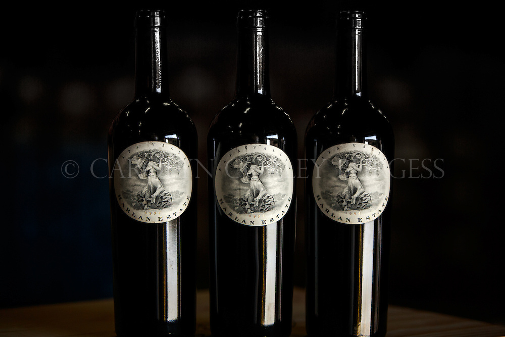 Harlan Estate, Napa Valley wine, commercial photography, wine bottles, California wine
