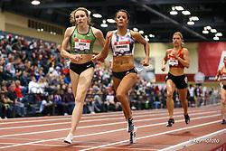 2020 USATF Indoor Championship<br /> Albuquerque, NM 2020-02-14<br /> photo credit: © 2020 Kevin Morris<br /> womens 800m, OTC, Nike, adidas