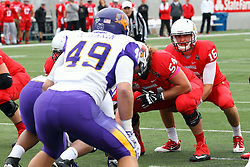 03 October 2015:  Jake Kolbe(16) under center.  Jake Kolbe(16) started the game in place of Tre Roberson(5) and the two traded plays for much of the game. NCAA FCS Football between Northern Iowa Panthers and Illinois State Redbirds at Hancock Stadium in Normal IL (Photo by Alan Look)