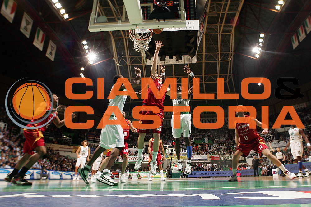 DESCRIZIONE : Siena Lega A1 2007-08 Playoff Finale Gara 5 Montepaschi Siena Lottomatica Virtus Roma <br /> GIOCATORE : Andrea Crosariol<br /> SQUADRA : Lottomatica Virtus Roma <br /> EVENTO : Campionato Lega A1 2007-2008 <br /> GARA : Lottomatica Virtus Roma Montepaschi Siena <br /> DATA : 12/06/2008 <br /> CATEGORIA : Tiro<br /> SPORT : Pallacanestro <br /> AUTORE : Agenzia Ciamillo-Castoria/G.Ciamillo