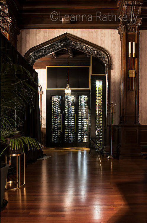 A new wine room features contemporary styling under the traditional old wood in the renovated Fairmont Empress Hotel in Victoria, BC