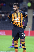 Hull City forward Fraizer Campbell (25)  during the EFL Sky Bet Championship match between Hull City and Swansea City at the KCOM Stadium, Kingston upon Hull, England on 22 December 2018.