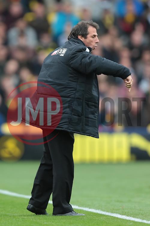 Watford's Manager Gianfranco Zola  - Photo mandatory by-line: Nigel Pitts-Drake/JMP - Tel: Mobile: 07966 386802 14/09/2013 - SPORT - FOOTBALL -  Vicarage Road - Hertfordshire - Watford V Charlton Athletic - Sky Bet Championship