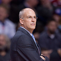 21 january 2009: Jay Triano, head coach of the Toronto Raptors, is seen during the Detroit Pistons 95-76 victory over the Toronto Raptors, at the Palace of Auburn Hills, in Detroit, Michigan, USA.
